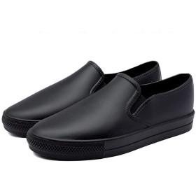 [nicoly] レインシューズ 軽量 レディース スリッポン 雨靴 (23.5cm(M))