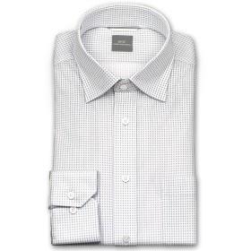 (エスエムシー(シャツメーカーチョーヤ))SMC メンズワイシャツ ワイドカラー 形態安定加工 ポリエステルボタン 脇2本針縫製 袖付け本縫い [680-L84]