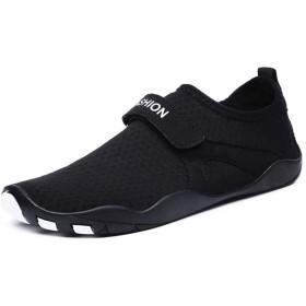 Ailj ウォーターシューズ、 ビーチシューズ、 ベアフットシューズ、 速乾性のスポーツシューズ、 ビーチサーフシューズ、 ビーチの水の靴下、 速乾性裸足 (色 : 黒, サイズ さいず : EU 42/US 10/UK 8/JP 27cm)