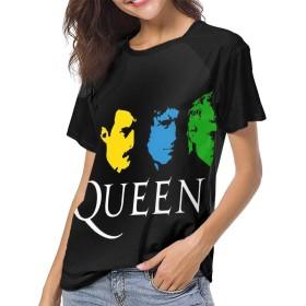 ベーシックTシャツ レディース 半袖 クイーン Queen シンプル カジュアル ショートスリーブカ クルーネック 快適 吸汗速乾 夏 ベースボールウェア