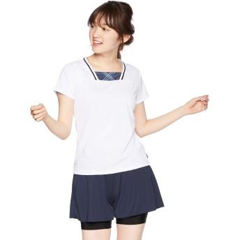[プリンス] テニスウェア ゲームシャツ WL9054 [レディース] ホワイト (146) 日本 L (日本サイズL相当)
