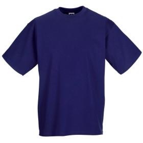 (ラッセル) Russell メンズ クラシック 半袖Tシャツ トップス カットソー 定番 男性用 (2XL) (紫)