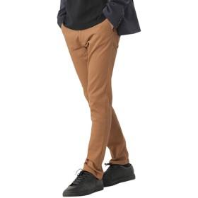 (モノマート) MONO-MART チノパン ストレッチ スリム スキニー カラーパンツ カツラギ メンズ 【テーパード】メンズ キャメルブラウン Sサイズ