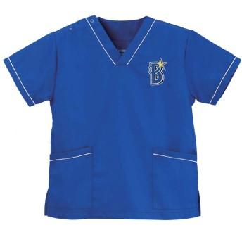 ディーフェイズ YB-2006 男女兼用 横浜DeNAベイスターズスクラブ S~3L 医療ユニフォーム スクラブ 手術着 オペ着 (LL)