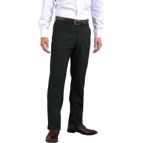 春夏 メンズ しなやか素材 ウォッシャブル ノータック スリム パンツ ストレッチ スラックス ブラック 82cm