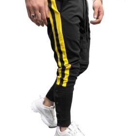 Kankanluck メンズ巾着ラウンジ拡張ウエストトレーニングジョガーパンツ Black-2 S
