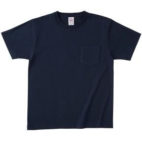 クロスアンドステッチ オープンエンドマックスウェイトポケットTシャツ OE1117 [メンズ] ネイビー L
