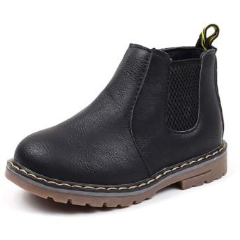 snofiy ブーツ キッズ ショートブーツ 男の子 女の子 ジュニア 子供靴 シンプル カジュアル 通気 保温 履きやすい 秋 冬