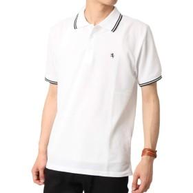 (アーケード) ARCADE メンズ 春 夏 ポロシャツ 吸水速乾 機能性 クール 半袖 ワンポイント ポロシャツ L ホワイト-B