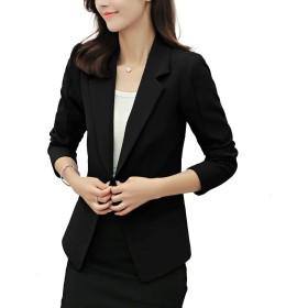 Navvour スーツ レディース スーツジャケット コート フォーマル ビジネス ブレザー 無地 大きいサイズ ブラック ホワイト