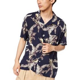 [ウィゴー] WEGO アロハ 開襟 オープン カラー シャツ 半袖 M サイズ 柄 2 メンズ