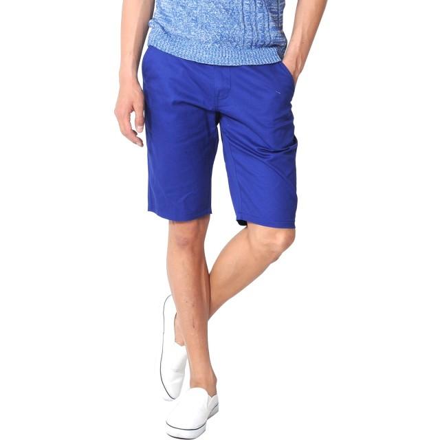 (スペイド) SPADE ショートパンツ メンズ ショーツ ハーフパンツ チノ チノパンツ【q989】 (L, ブルー)