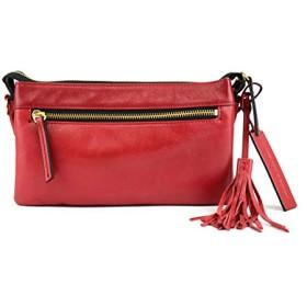 [アンチフォルムデザイン] お財布ポシェット 長財布 大きめ 3層 ショルダー バッグ 2way 斜めがけ カラフル レザー 本革 牛革 財布 鞄 レディース Wallet Bag Minimal 905198 RED