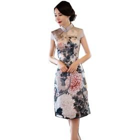 上海物語 半袖チャイナドレス レディース