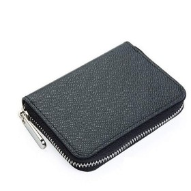 11Straps メンズ 小銭入れ 財布 カード入れ 札入れ ラウンドファスナー 革 レザー (ブラック)