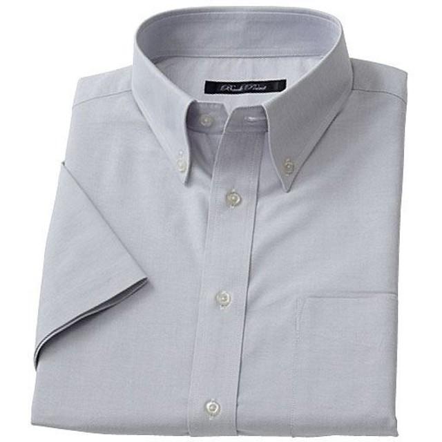 【メンズ】 形態安定ボタンダウンYシャツ(半袖) - セシール ■カラー:グレー系 ■サイズ:5L,LL,3L,L,M,4L