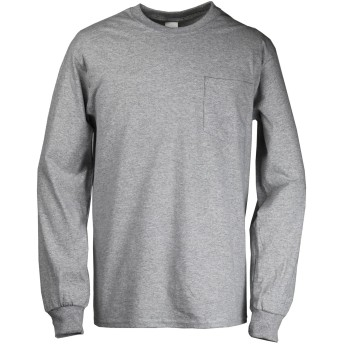 ギルダン Tシャツ 6.0ozウルトラコットンポケット付き長袖Tシャツ [メンズ] [並行輸入品] スポーツグレー XL