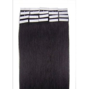Remeehi【人毛100%】 シール エクステンション フェアリーベール (テープ エクステンション) 50g(幅4cm×長さ38cm)×20枚入り38cm #1b Natural Black