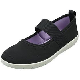 (パンジー)Pansy 靴 シューズ 婦人用シューズ レディースストラップシューズ 驚きの軽量感 2104 (LL (24.5~25.0cm), ブラック)