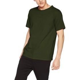 [ヘインズ] Tシャツ カラーズ Colors クルーネック 丸首 24色展開 重ね着 RECOVER(R) Jersey メンズ ディープグリーン 日本 M (日本サイズM相当)