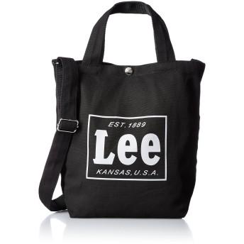 [リー] ショルダーバッグ コットンキャンバス(帆布) 2WAYトートバッグ ブラックコットン One Size