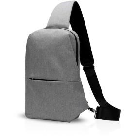FANDARE人気ボディバッグ 旅行アウトドア カジュアル斜めがけショルダーバッグファッションiPad収納可能 軽量 メンズレディース防水ポリエステル グレー