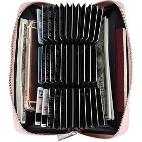 ハナ(HANA)財布 カードケース カード収納 長財布 72枚収納 クレジットカード/ポイントカード/ パスポート 小銭入れ コインケース 牛本革 じゃばら スキミング&磁気防止 大容量 メンズ/レディース