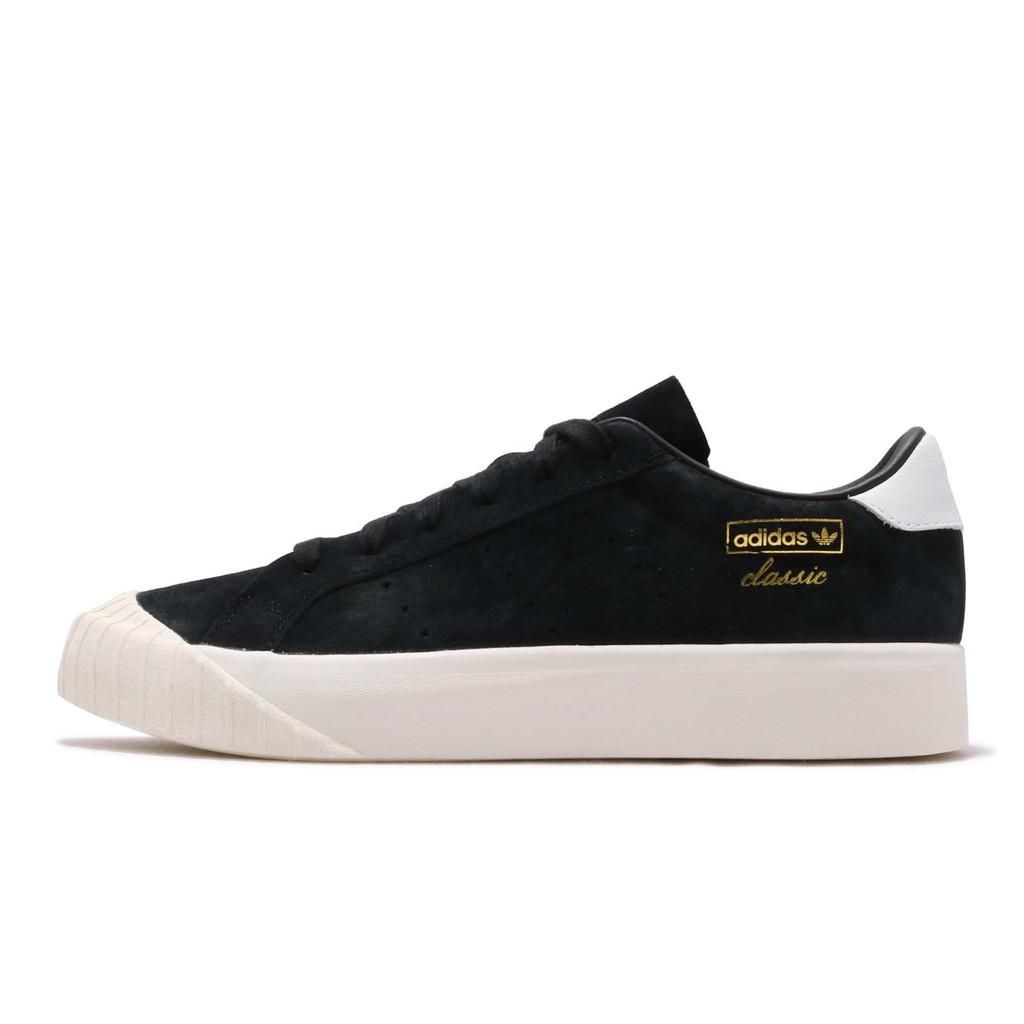 adidas 休閒鞋 Everyn 黑 白 金標 女鞋 餅乾鞋【ACS】 B28090