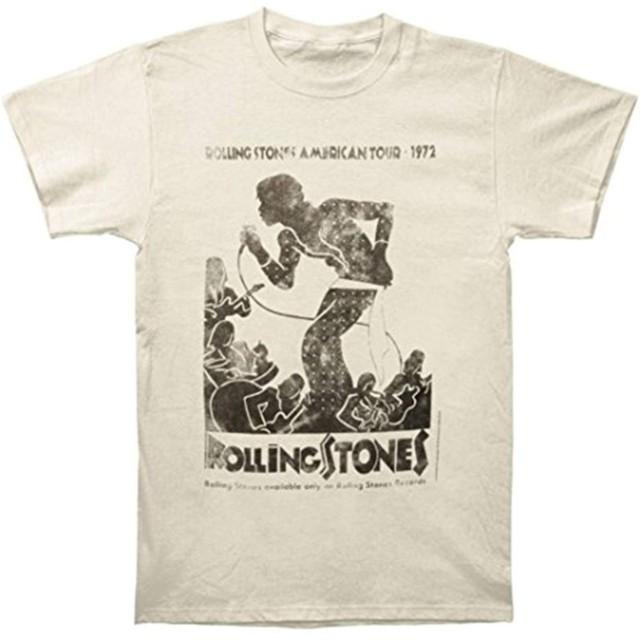 SMURAB The Rolling Stones ローリングストーンズ ロックTシャツ/バンドTシャツ メンズ/レディース Tシャツ/夏服 スポーツ Tシャツ ブラック/半袖 Tシャ
