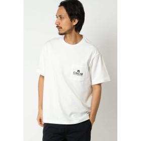 イッカ メンズ(ikka) 【CANTON COTTON MILLS】ワンポイントTシャツ【ホワイト/L】