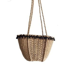 MARIAH(マリア) かご バッグ 肩掛けバッグ 編みバック カゴバッグ ショルダーバッグ レディース キャメル