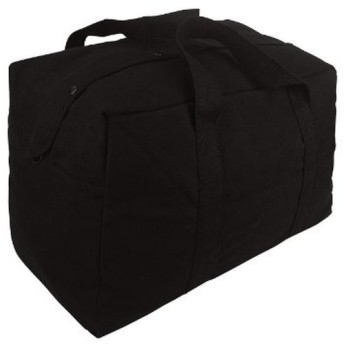 Rothco カーゴバッグ 帆布 パラシュート ブラック