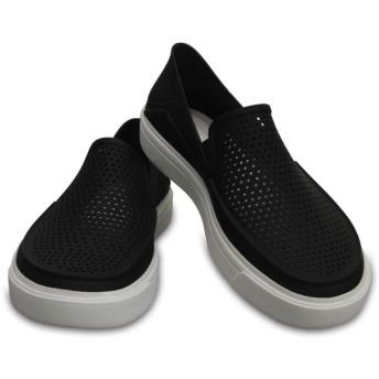 【クロックス公式】 シティレーン ロカ スリップオン ウィメン Women's CitiLane Roka Slip-On ウィメンズ、レディース、女性用 ブラック/黒 21cm,22cm,23cm,24cm,25cm shoe 靴 シューズ