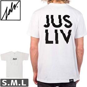 ホワイト/Lサイズ/ジャスリブ JSLV スケボー Tシャツ JSLV CHARGED TEENO8