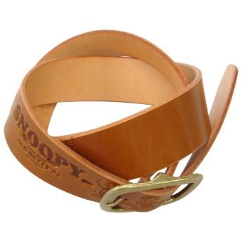 (オールドベティーズ)OLD BETTY'S SNOOPY Embossed Leather Belt(Skateboard) /スヌーピー エンボス レザー ベルト キャメル