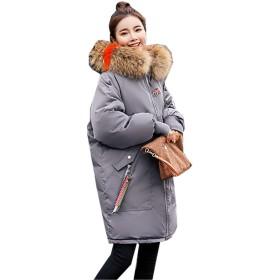 [イダク] レディース モッズコート ジャケット 中綿 防寒 防風 保温コート ゆったり カジュアル ミリタリーコート エレガント 大きいサイズ ダウンコートダークグレー2XL