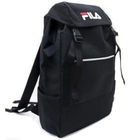 FILA フィラ リュック 大容量 おしゃれ サイドファスナー 巾着 フラップ バックパック リュックサック レディース メンズ サイドジップ FM2056 ブラック 01.Black