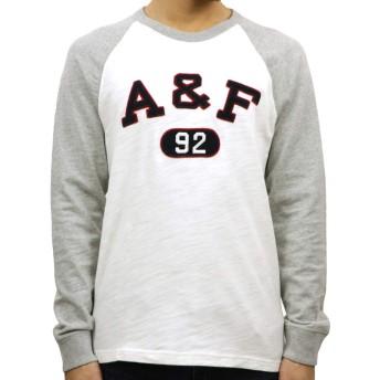 [アバクロ] Abercrombie&Fitch 正規品 メンズ クルーネック 長袖Tシャツ APPLIQUE LOGO RAGLAN TEE 123-238-2418-108 L 並行輸入品 (コード:4132690239-4)