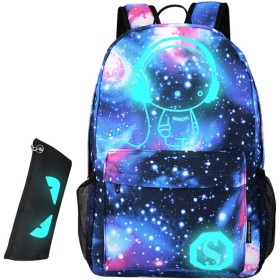 Wincy Shop Cool Luminous Laptop Backpack with Pencil Bag Unisex Fashion Daypack College School Book Bag