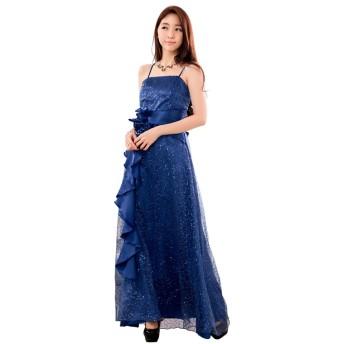 [sweet bell] ロングドレス ドレス ロング パーティードレス 演奏会 結婚式 キャバ フォーマル ブルー 青 大きいサイズ 3Lサイズ XXLサイズ 15号