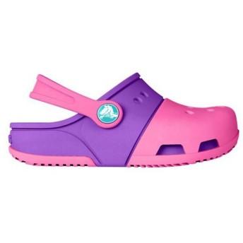 [Crocs] (クロックス) キッズ・子供・チルドレン エレクトロ II スリッポンクロッグ 子供靴 カジュアルシューズ (5 UK トドラー) (ピンク/パープル)