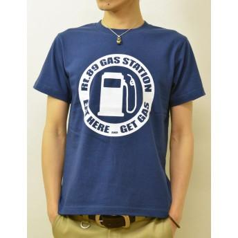 (ジーンズバグ)JEANSBUG GAS STATION オリジナル アメカジ プリント 半袖 Tシャツ メンズ レディース 大きいサイズ ST-GAS S インディゴ(87)