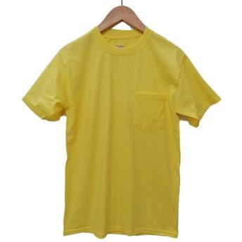 (ヘインズ) HANES BEEFY TEE POCKET ヘインズ メンズ ポケットTシャツ 5190p ビーフィー [並行輸入品] (L, イエロー)