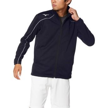[Mizuno] トレーニングウェア ウォームアップジャケット スタンダード 吸汗速乾 32MC9125 ディープネイビー×ホワイト 日本 2XL (日本サイズ3L相当)