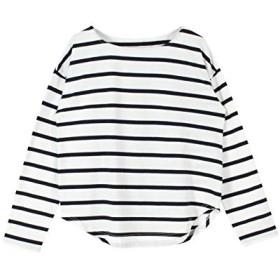 (ティティベイト) titivate ボートネック ゆったり カットソー Tシャツ ATXN0094 F ホワイト/ネイビー