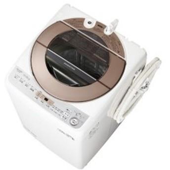 SHARP ES-GV10D ブラウン系 [簡易乾燥機能付洗濯機(10.0kg)]