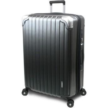 【SUCCESS サクセス】 スーツケース 3サイズ 【 大型 76cm / ジャスト型 70cm / 中型 65cm 】 超軽量 TSAロック搭載 【 プロデンス コーナーパットモデル】 (ジャスト型 Jサイズ 70cm, ガンメタヘアライン)