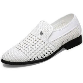 [ONE MAX] ビジネスシューズ メンズ 通気 スリッポン ビジネスサンダル ドライバーシューズ ローファー モカシン 革靴 防滑 軽量 ウォーキング シューズ