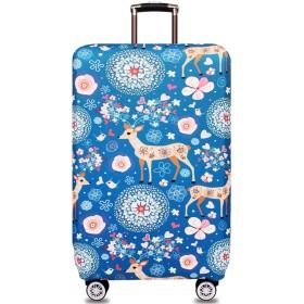 WINRAN スーツケースカバー キャリーバッグ カバー 耐久性 伸縮素材 (Cartoon Deer, S)