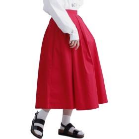 (メルロー) merlot コットンフレアタックスカート1012-4923 936378201012 FREE レッド